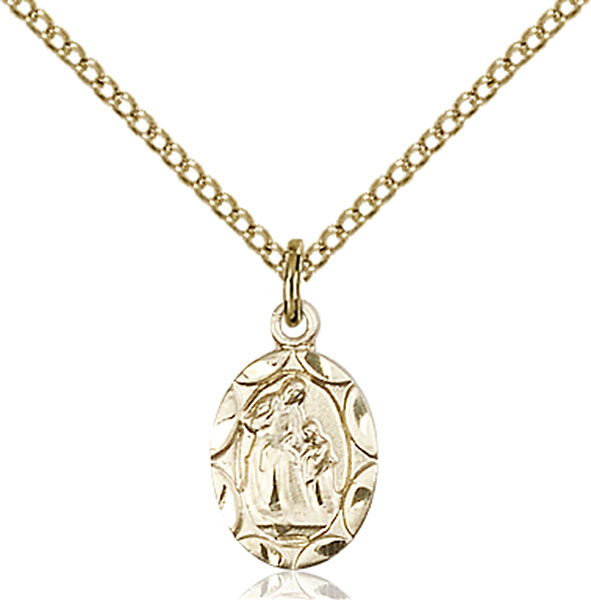 Gold-Filled St. Ann Pendant