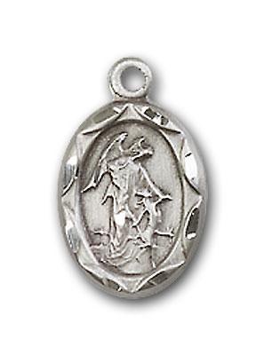 Sterling Silver Guardian Angel Pendant
