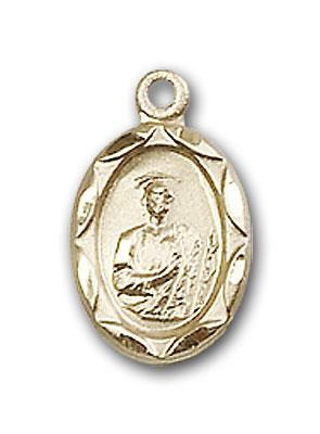14K Gold St. Jude Pendant