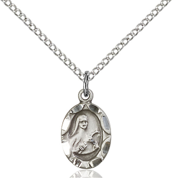Sterling Silver St. Theresa Pendant