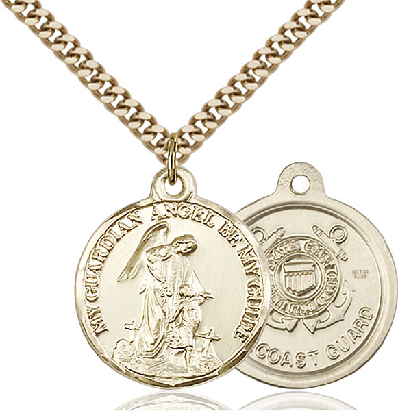 Gold-Filled Guardain Angel / Coast Guard Pendant
