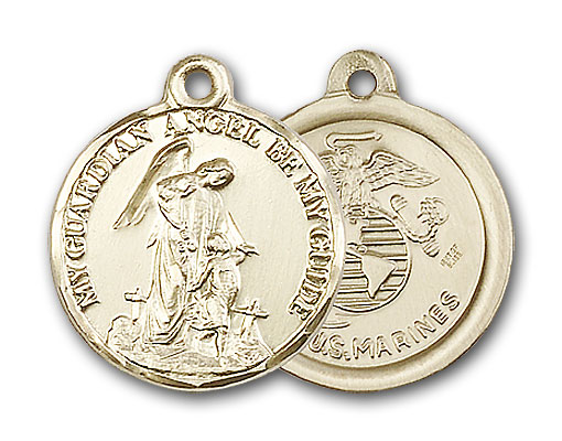 Gold-Filled Guardain Angel / Marines Pendant
