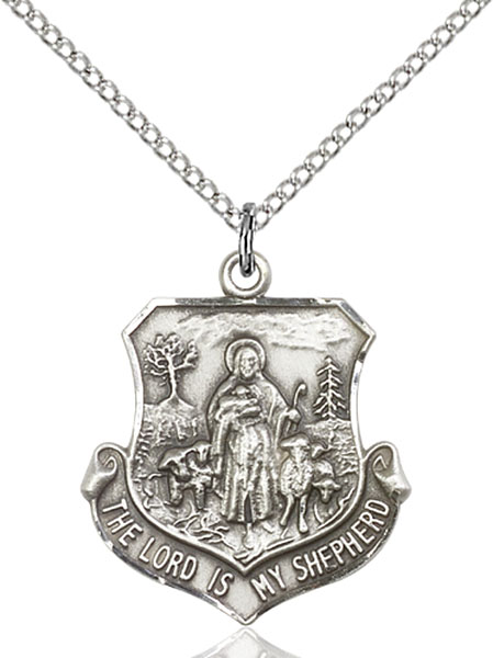 Sterling Silver Lord Is My Shepherd Pendant