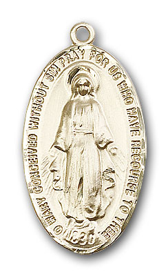 14K Gold Large Miraculous Medal