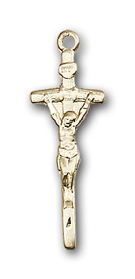 Gold-Filled Papal Crucifix Pendant