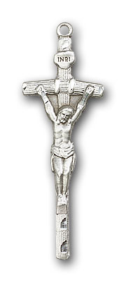 Sterling Silver Papal Crucifix Pendant