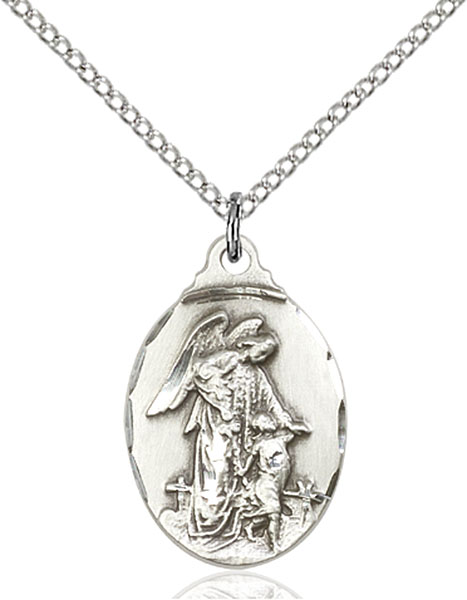 Sterling Silver Guardian Angel Pendant