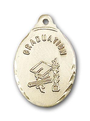 14K Gold Graduate Pendant - Engravable