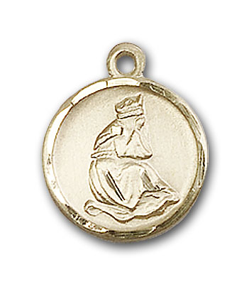 14K Gold Our Lady of La Salette Pendant - Engravable