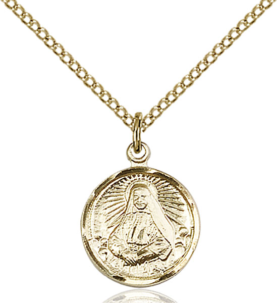 Gold-Filled St. Cabrini Pendant