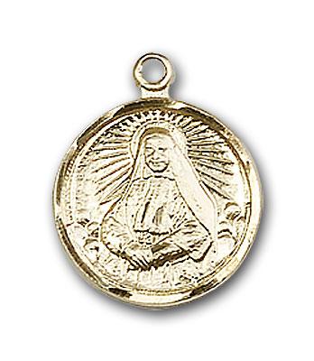 14K Gold St. Cabrini Pendant - Engravable
