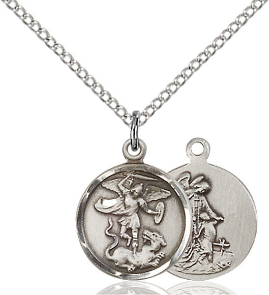 Sterling Silver St. Michael the Archangel Pendant