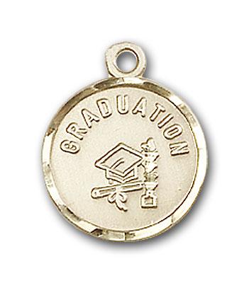 14K Gold Graduation Pendant - Engravable