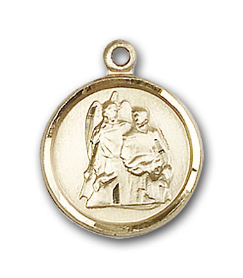 14K Gold St. Raphael the Archangel Pendant - Engravable