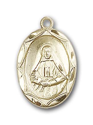 14K Gold St. Frances Cabrini Pendant - Engravable