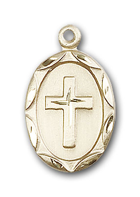 14K Gold Cross Pendant