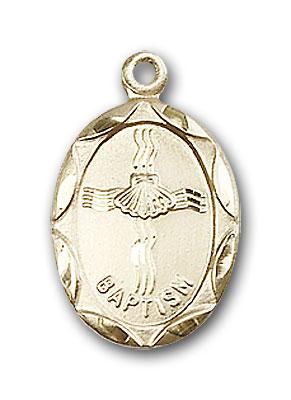 14K Gold Baptism Pendant - Engravable