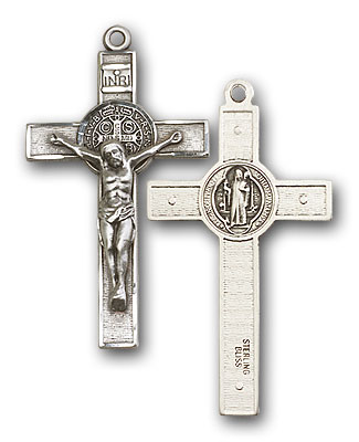 Sterling Silver St. Benedict Crucifix Pendant