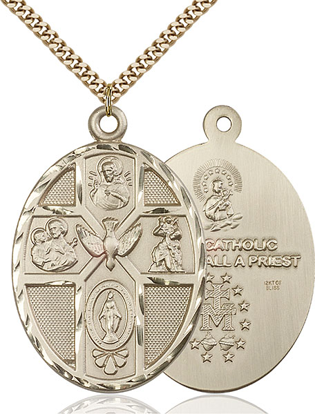 Gold-Filled 5-Way / Holy Spirit Pendant