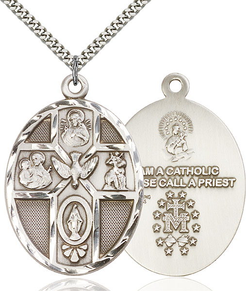 Sterling Silver 5-Way / Holy Spirit Pendant