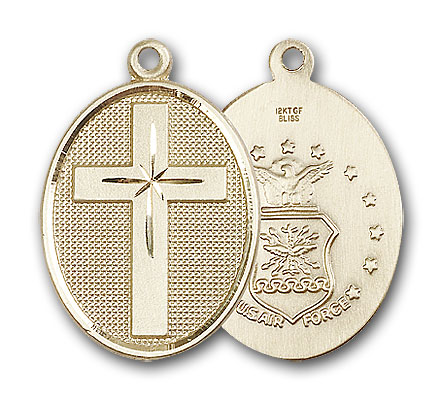 Gold-Filled Cross / Air Force Pendant