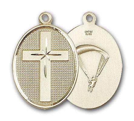 14K Gold Cross / Paratrooper Pendant