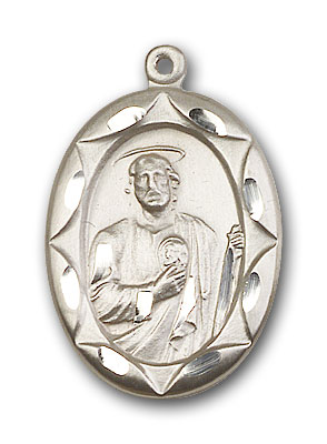 Sterling Silver St. Jude Pendant