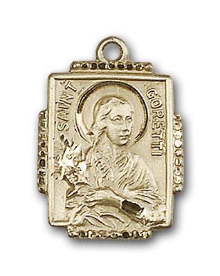 14K Gold St. Maria Goretti Pendant - Engravable