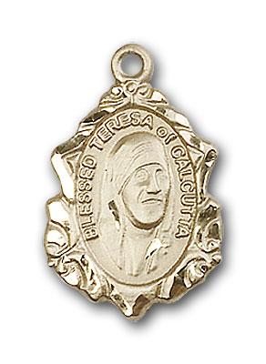 14K Gold Blessed Teresa of Calcutta Pendant - Engravable