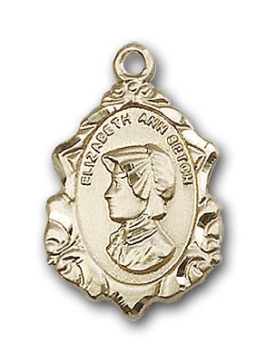 Gold-Filled St. Elizabeth Ann Seton Pendant