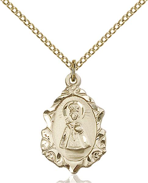 Gold-Filled Infant of Prague Pendant