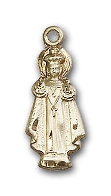 14K Gold Infant of Prague Pendant - Engravable
