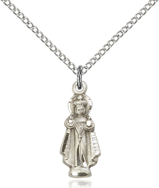 Sterling Silver Infant of Prague Pendant