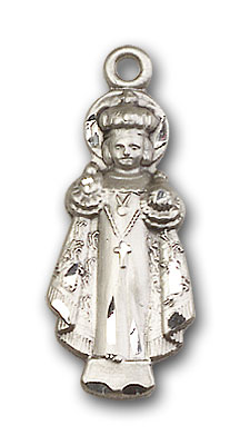 Sterling Silver Infant of Prague Pendant