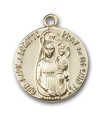 Gold-Filled Our Lady of Loretto Pendant