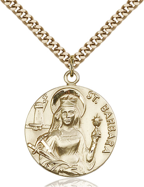 Gold-Filled St. Barbara Pendant