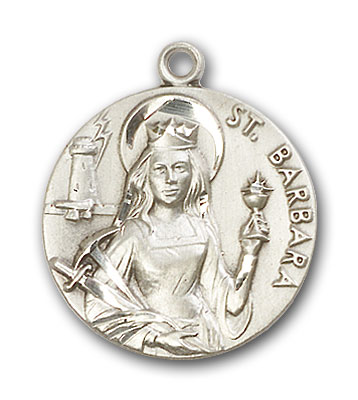 Sterling Silver St. Barbara Pendant