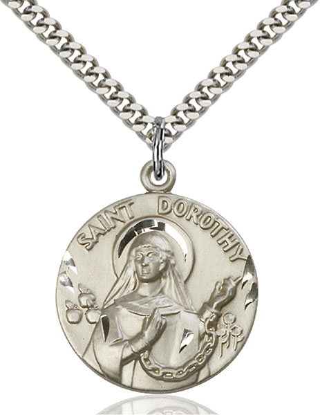 Sterling Silver St. Dorothy Pendant