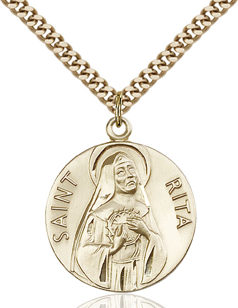 Gold-Filled St. Rita of Cascia Pendant