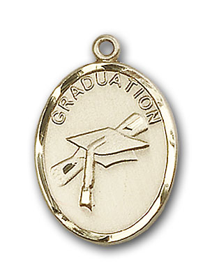 14K Gold Graduation Pendant - Engravable