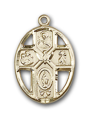 14K Gold 5-Way / Holy Spirit Pendant