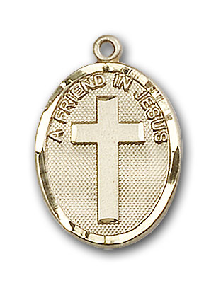 14K Gold A Friend In Jesus Pendant - Engravable