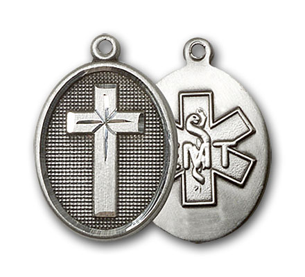 Sterling Silver Cross / Emt Pendant