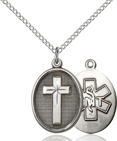Sterling Silver Cross / Emt Pendant