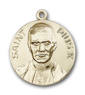 Gold-Filled Pope Pius X Pendant