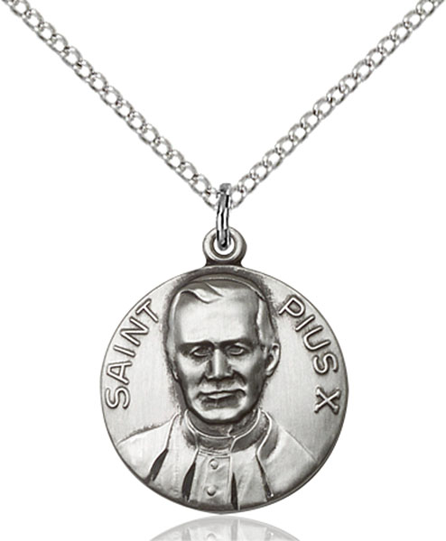 Sterling Silver Pope Pius X Pendant