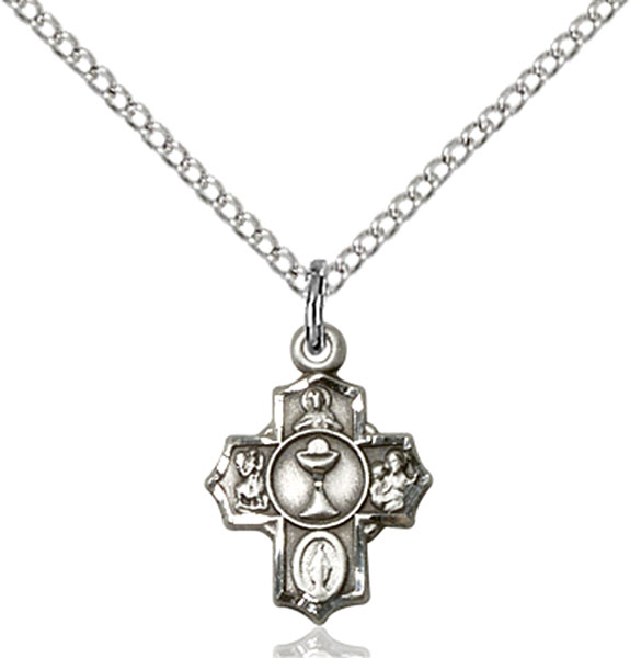Sterling Silver Communion 5-Way Pendant