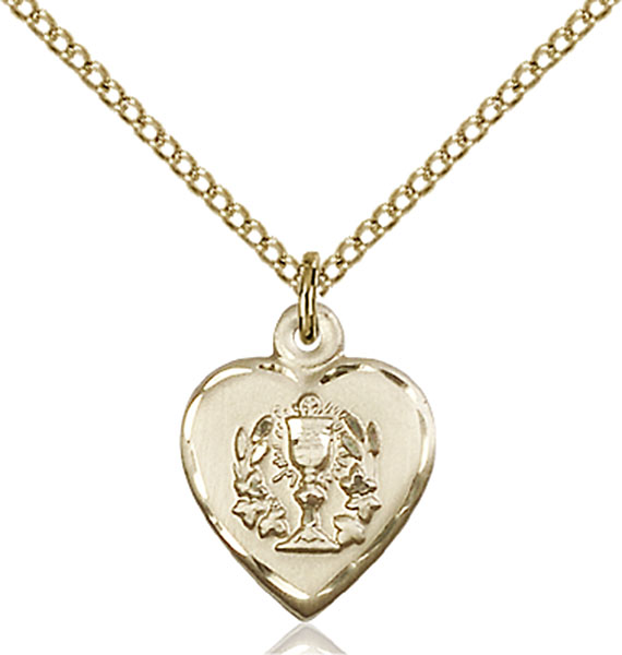Gold-Filled Heart / Communion Pendant
