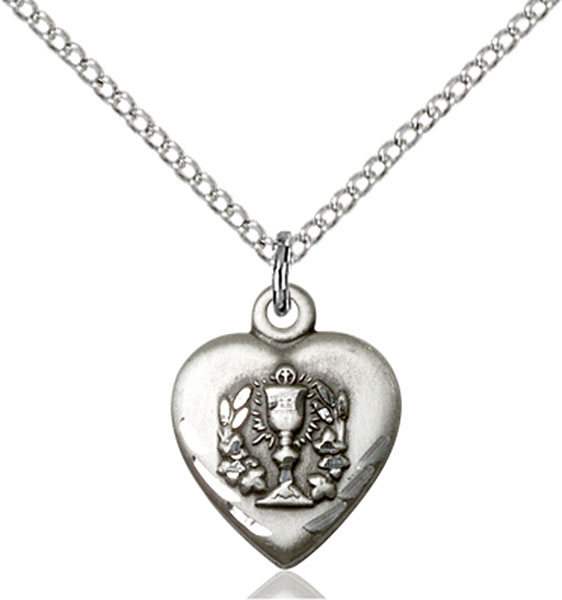 Sterling Silver Heart / Communion Pendant