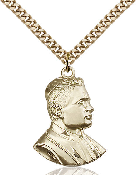 Gold-Filled Saint Pius X Pendant